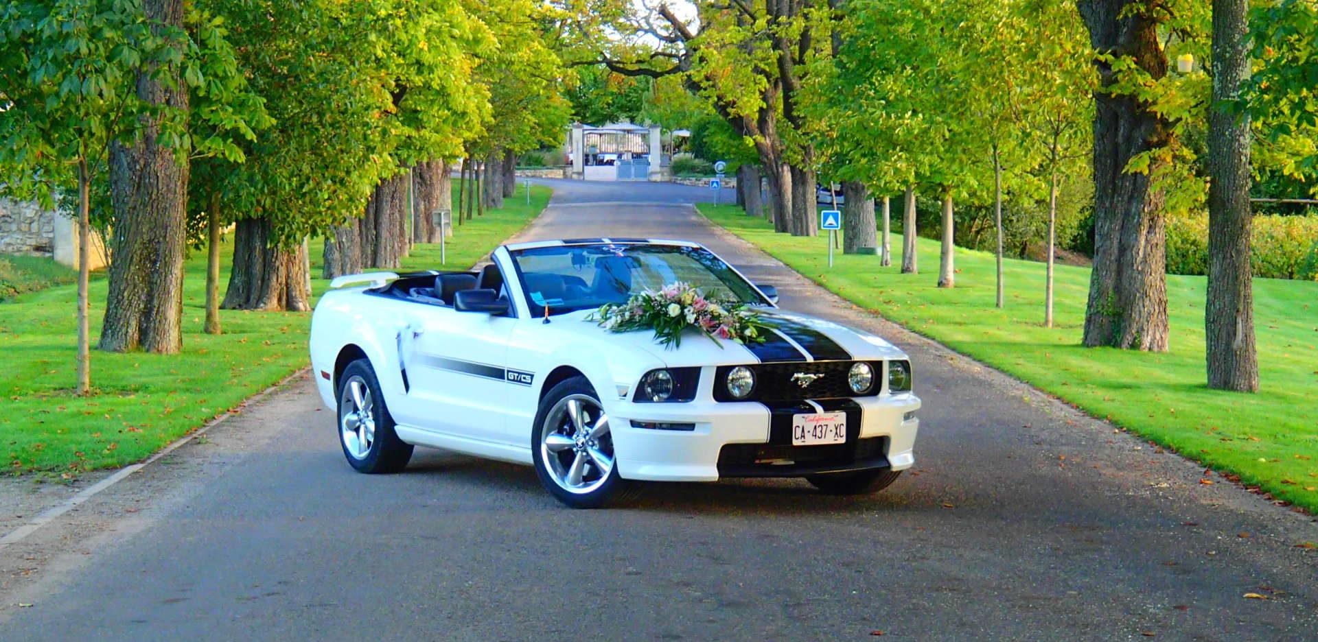 Louez une Ford Mustang Cabriolet pour votre MARIAGE !